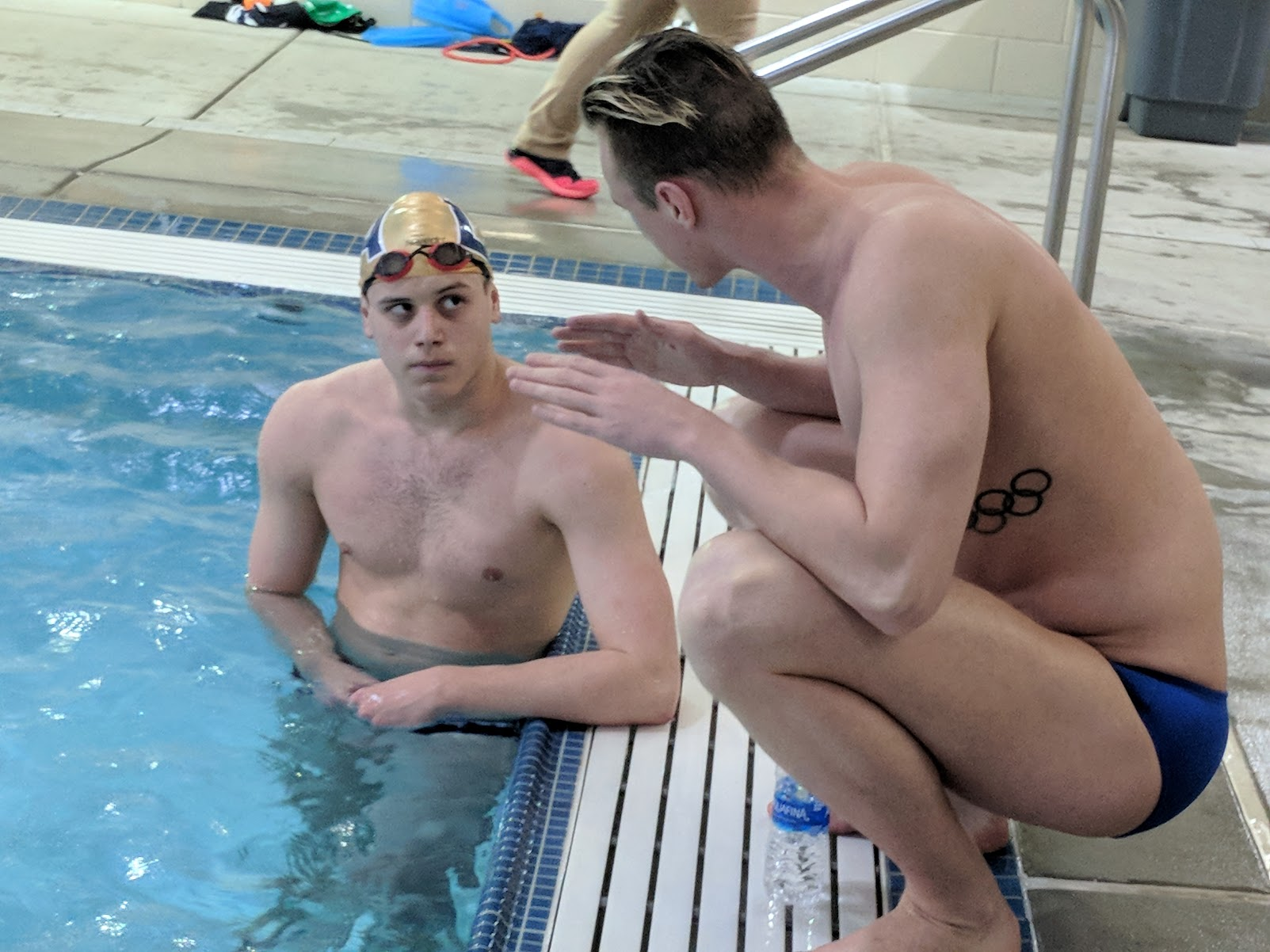 Olympian Shane Ryan offers constructive feedback to a participant.