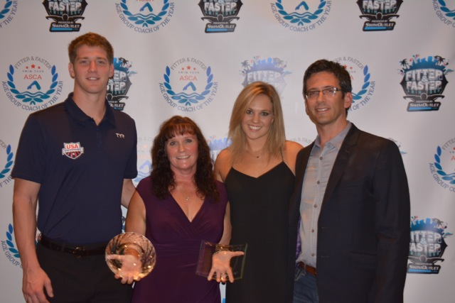 Beth Winkowski from Dynamo Swim Club in Atlanta, Georgia was the very first recipient of the Fitter and Faster/ASCA Age Group Swim Coach of the Year Award in September of 2014.