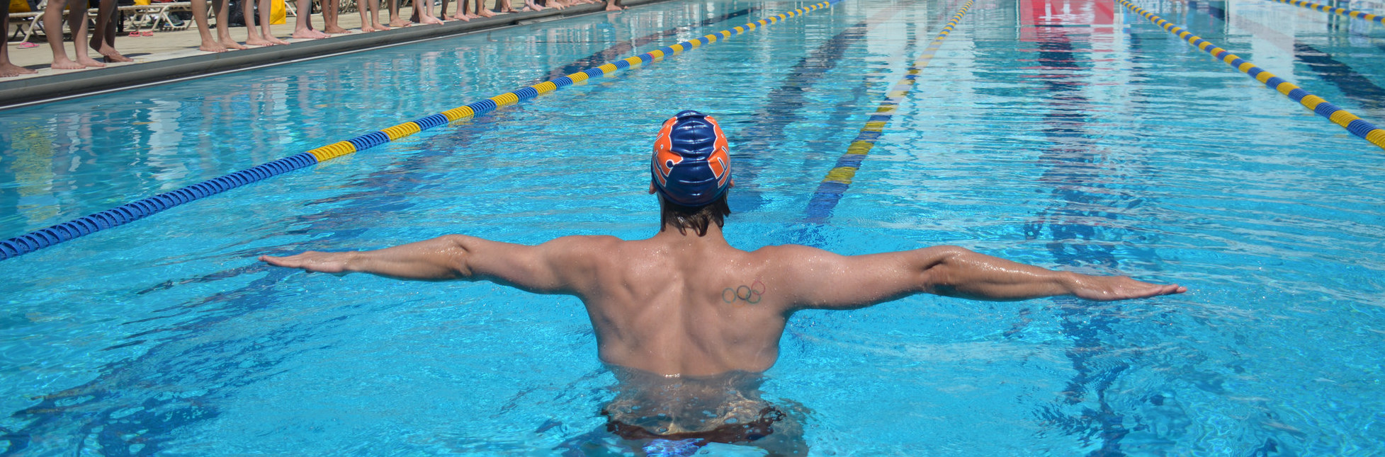 Swim clinic faster freestyle and backstroke racing - West mesa high school swimming pool ...